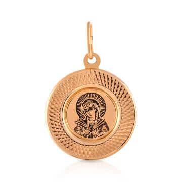 Подвес-икона Божия Матерь Семистрельная из золота