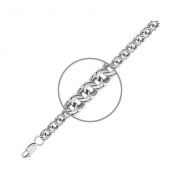Браслет TALANT, плетение Бисмарк, из серебра
