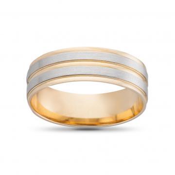Кольцо обручальное из золота гладкое, синтеринг, 6мм