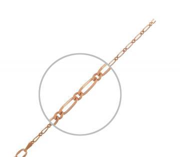 Цепочка, плетение Фигаро, из золота
