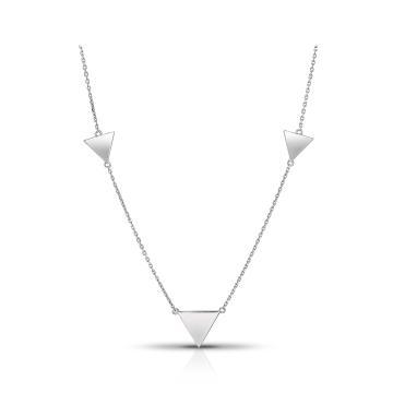 Колье TALANT Треугольники из серебра, коллекция Геометрия