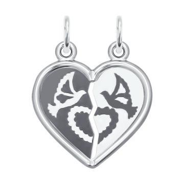 Подвеска SOKOLOV Сердце из серебра