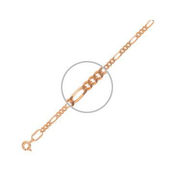 Браслет, плетение Фигаро, из золота