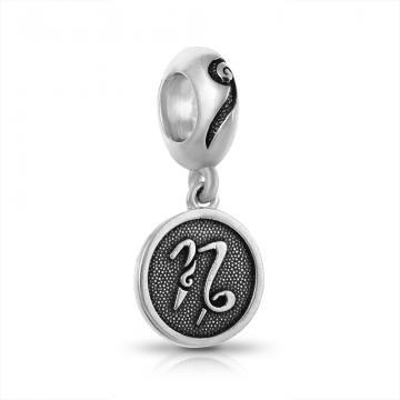 Подвеска-шарм из серебра, знак зодиака Козерог