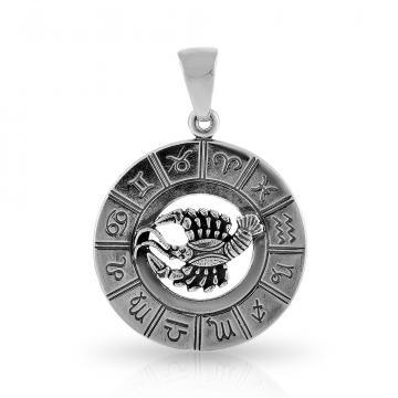 Подвеска из серебра, знак зодиака Рак