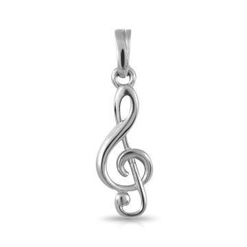 Подвеска Музыкальный ключ из серебра