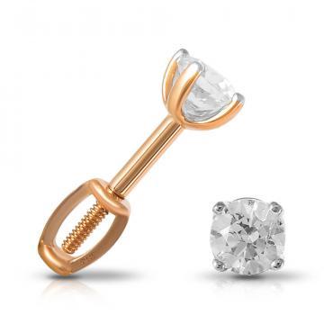 Серьги-пусеты TALANT из золота с кристаллами SWAROVSKI