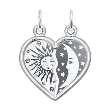 Подвеска Сердце SOKOLOV из серебра