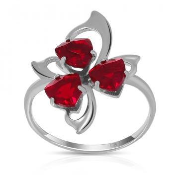 Кольцо из серебра с ювелирными кристаллами