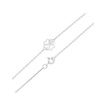 Браслет TALANT Клевер из серебра, коллекция Геометрия