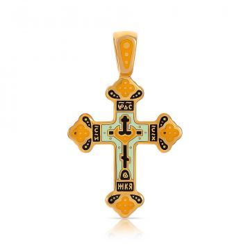 Крестик из серебра с эмалью
