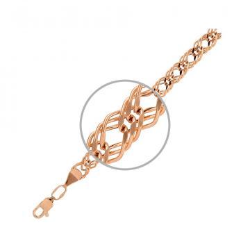 Цепочка, плетение Ромб тройной, из из золота