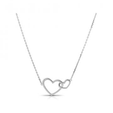 Колье TALANT Сердце из серебра, коллекция Геометрия