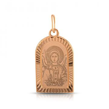 Подвеска-икона Ангел-Хранитель из золота