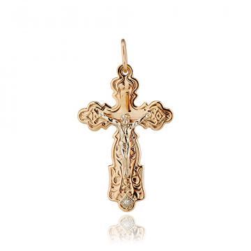 Крест с фианитом