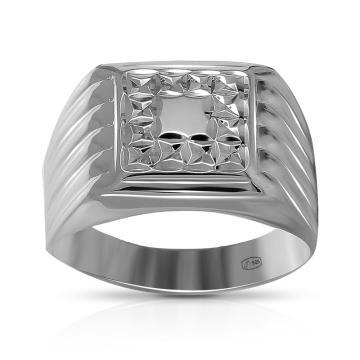 Кольцо-печатка TALANT из серебра