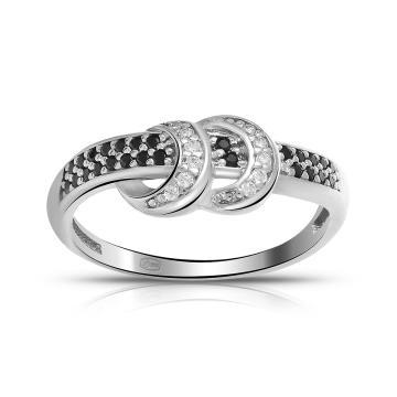 Кольцо TALANT из серебра со шпинелью и фианитами