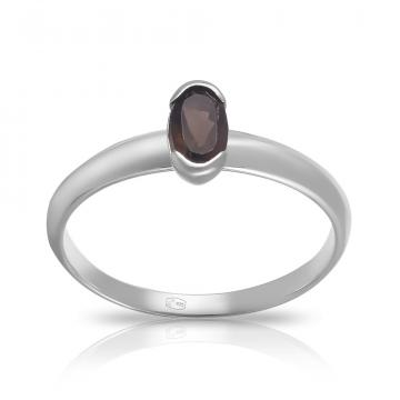 Кольцо TALANT из серебра с раух-топазом
