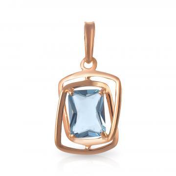 Подвеска из серебра с ювелирным кристаллом