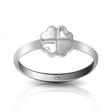 Кольцо TALANT Клевер из серебра, коллекция Геометрия