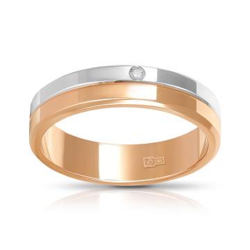 Кольцо обручальное TALANT из золота с бриллиантом