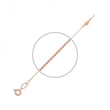Браслет на ногу (анклет), плетение Панцирь, из золота