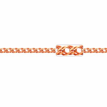 Браслет, плетение Ромб двойной с алмазной гранью 10-ти сторон, из золота