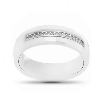 Кольцо SOKOLOV из серебра с керамикой и фианитами