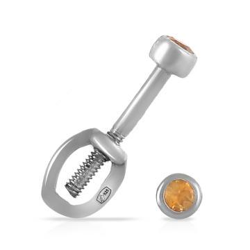 Серьги-пусеты TALANT из серебра с цитринами