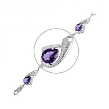 Браслет из серебра с ювелирным кристаллом