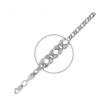 Браслет TALANT, плетение Ромб двойной, из серебра