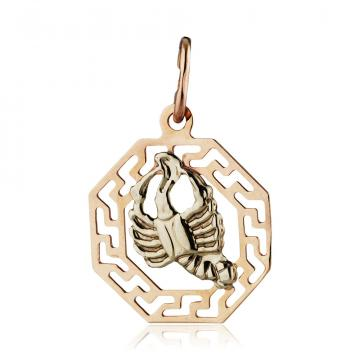 Подвеска из золота, знак зодиака Рак