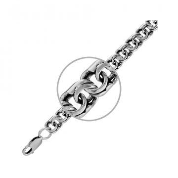 Цепочка TALANT, плетение Бисмарк, из серебра