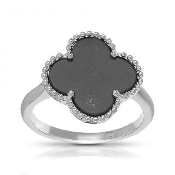 Кольцо из серебра с керамикой, коллекция КЛЕВЕР