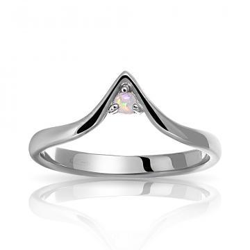 Кольцо из серебра с опалом