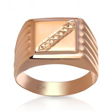 Кольцо-печатка TALANT из золота