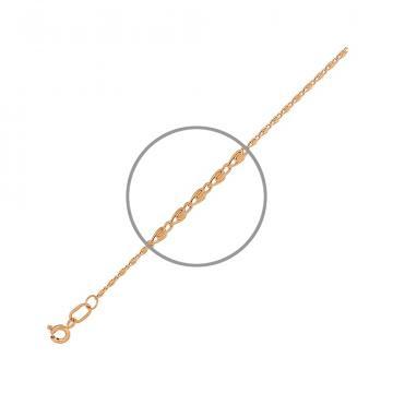 Браслет TALANT, плетение Улитка, из золота
