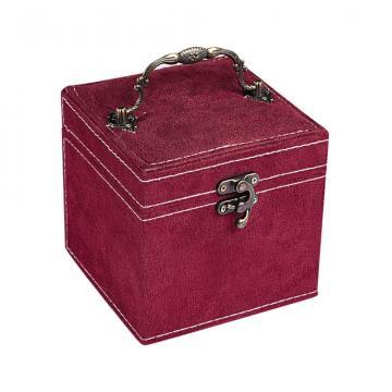 Шкатулка ювелирная , цвет - бордо
