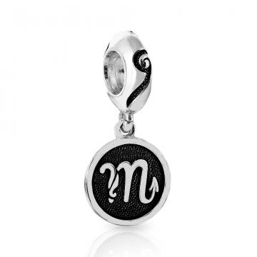 Подвеска-шарм, знак зодиака Скорпион, из серебра