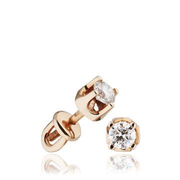 Серьги - пусеты из золота с бриллиантами