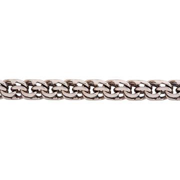 Цепочка, плетение Бисмарк, из серебра