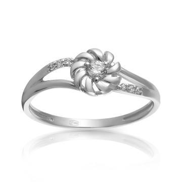Кольцо из серебра с фианитами SWAROVSKI и фианитами