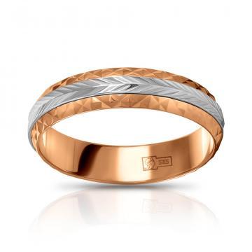 Кольцо обручальное из золота с вращающейся вставкой, 5 мм