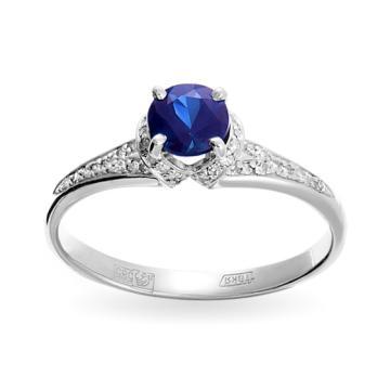 Кольцо из золота сапфиром и бриллиантами