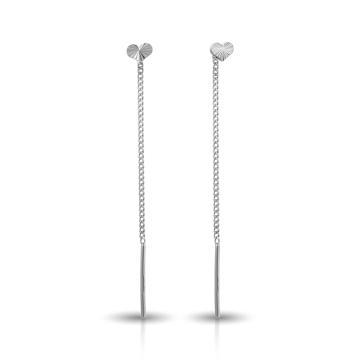 Серьги-продевки из серебра