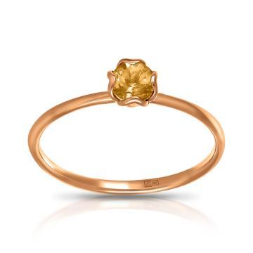 Кольцо TALANT из золота с цитрином