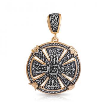 Подвеска Славянский Крест из серебра