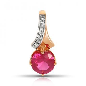 Подвеска из золота с рубином и бриллиантами
