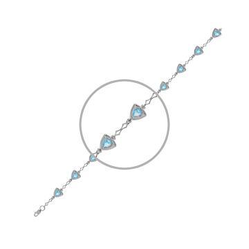Браслет из серебра с ювелирными кристаллами
