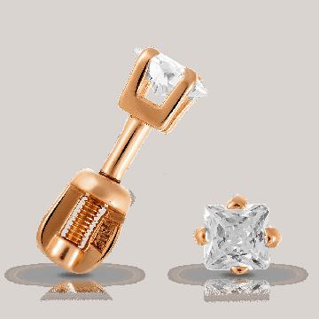 Серьги-пусеты SOKOLOV из серебра с фианитом